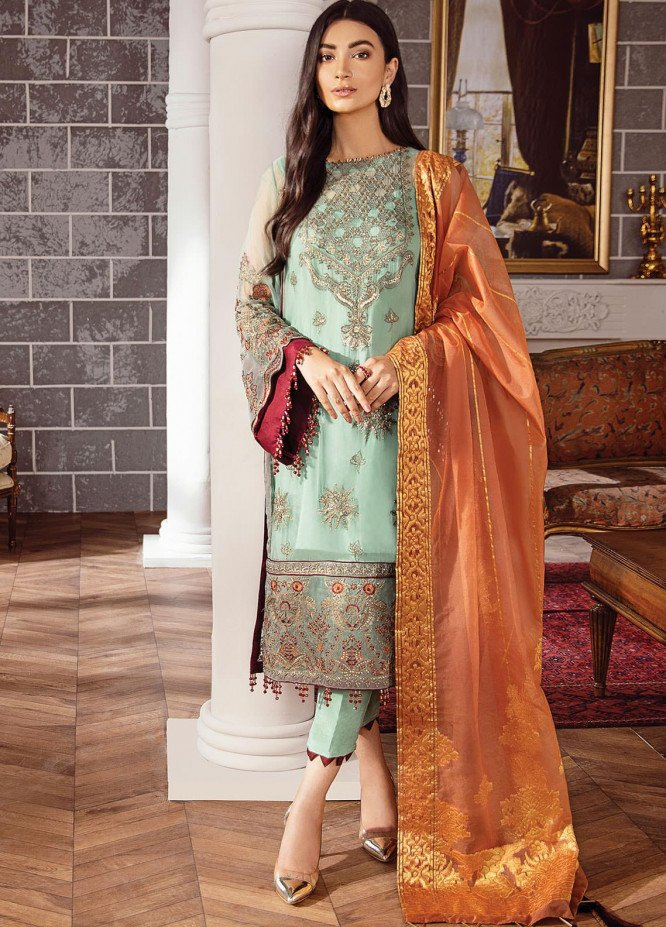 Rohtas by Xenia Formals Embroidered Chiffon Unstitched 3 Piece Suit XE20RF 06 Kiya - Wedding Collection
