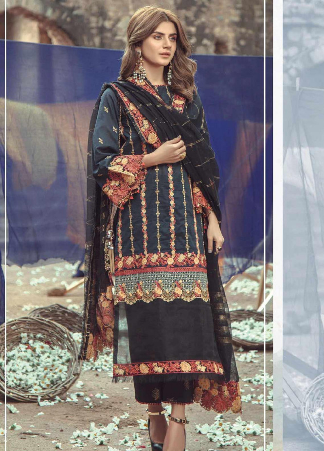 Roxanne by Serene Premium Embroidered Lawn Unstitched 3 Piece Suit SP20R 7 - Luxury Collection