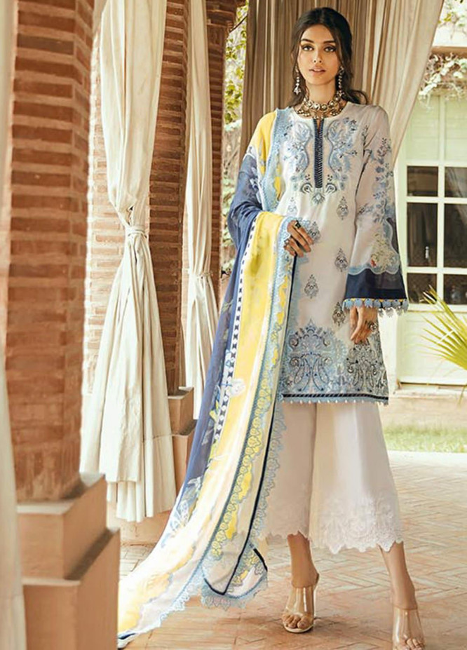 Saira Rizwan Embroidered Lawn Unstitched 3 Piece Suit SR20L-2 08 ALAINA - Spring / Summer Collection