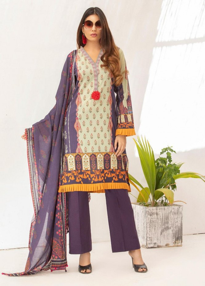 Salina by Regalia Textiles Printed Lawn Unstitched 3 Piece Suit SP20RG 01 - Summer Collection