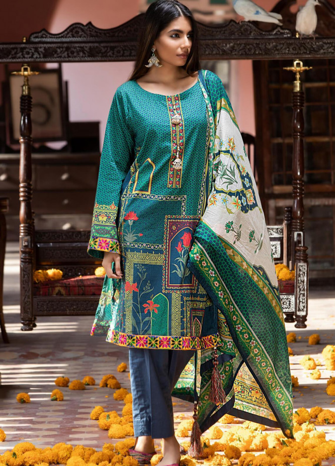 Salina by Regalia Textiles Printed Lawn Unstitched 3 Piece Suit SP20RG 05 - Summer Collection