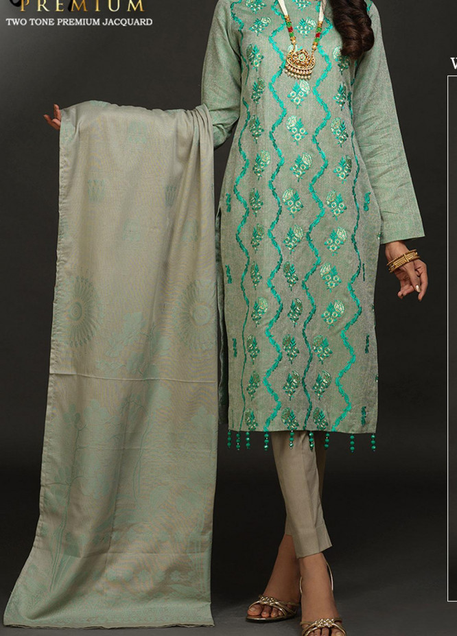 Salitex Embroidered Lawn Unstitched 3 Piece Suit ST20J-483 - Premium Collection