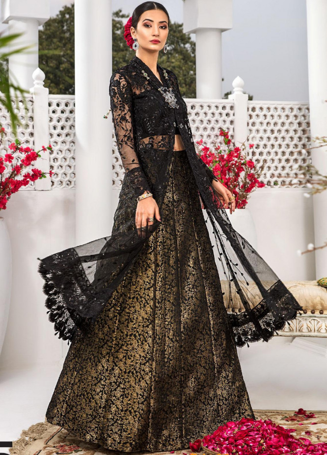 Aadaab by Sana Sheraz Embroidered Net Unstitched 3 Piece Suit SS20F-5 - Festive Collection
