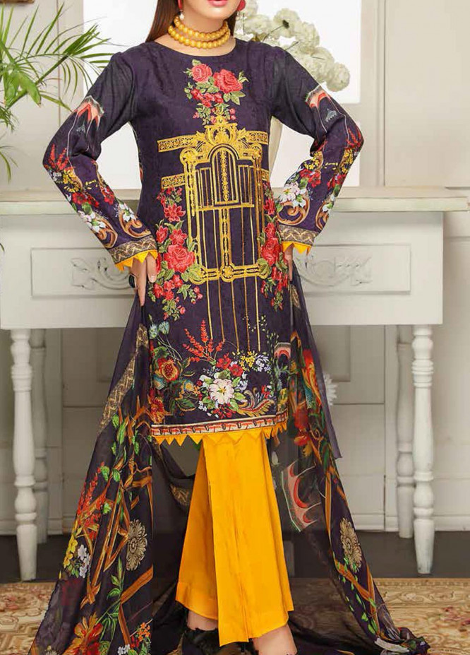 Sanam Saeed by Puri Fabrics Embroidered Viscose Unstitched 3 Piece Suit SS20JV 04 - Winter Collection