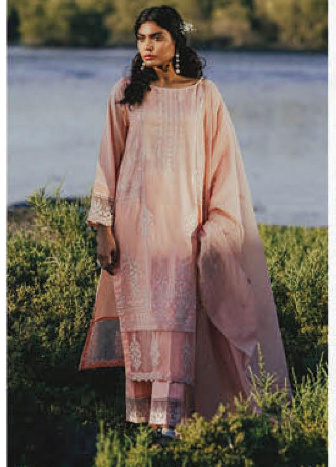 Sapphire Embroidered Jacquard Unstitched 3 Piece Suit SP20L Pink Hints - Spring / Summer Collection
