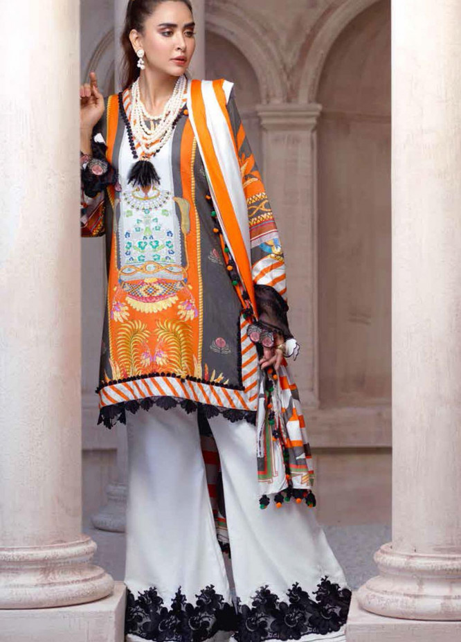 Sarang by Ittehad Textiles Printed Linen Unstitched 3 Piece Suit SG20PW 09 FALLEN ROCK - Winter Collection