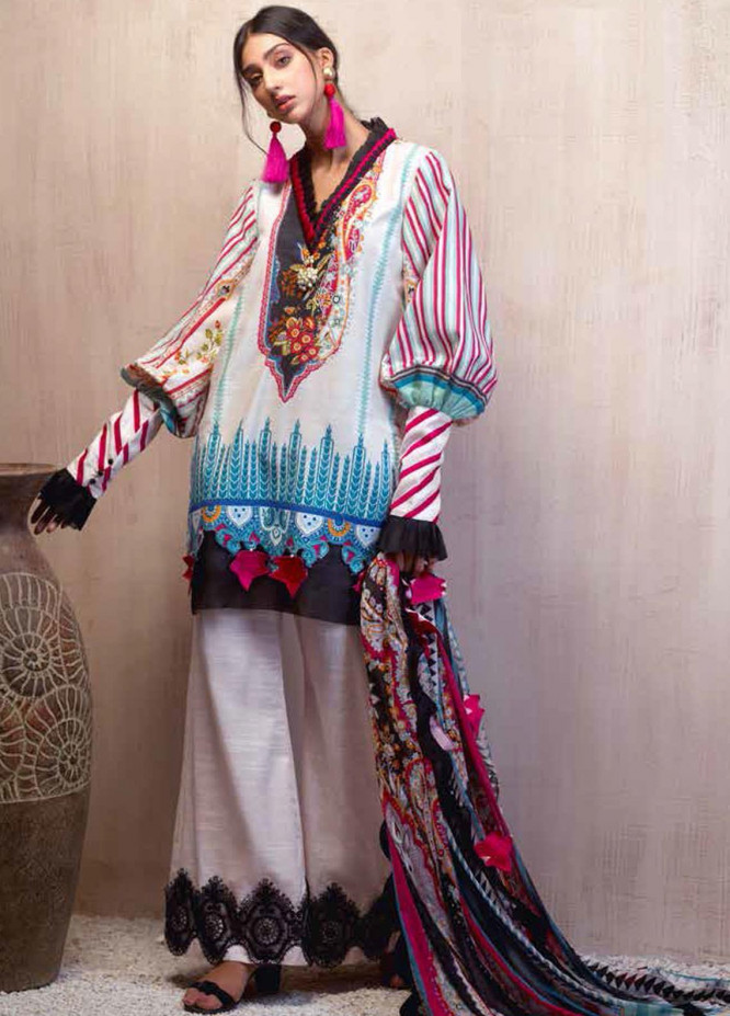 Sarang by Ittehad Textiles Printed Khaddar Unstitched 3 Piece Suit SG20PW 13 CLOVE PINK - Winter Collection