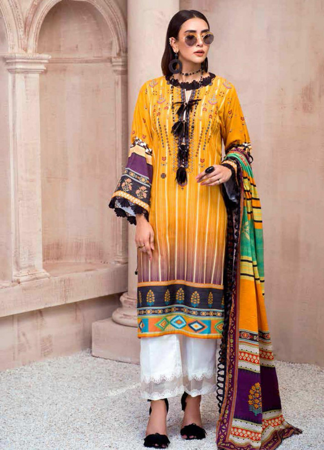 Sarang by Ittehad Textiles Printed Khaddar Unstitched 3 Piece Suit SG20PW 17 ETHNIC HAZE - Winter Collection