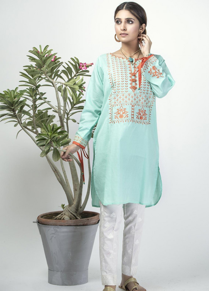 Senorita Casual Cotton Stitched Kurtis LAA-01323 SEA GREEN