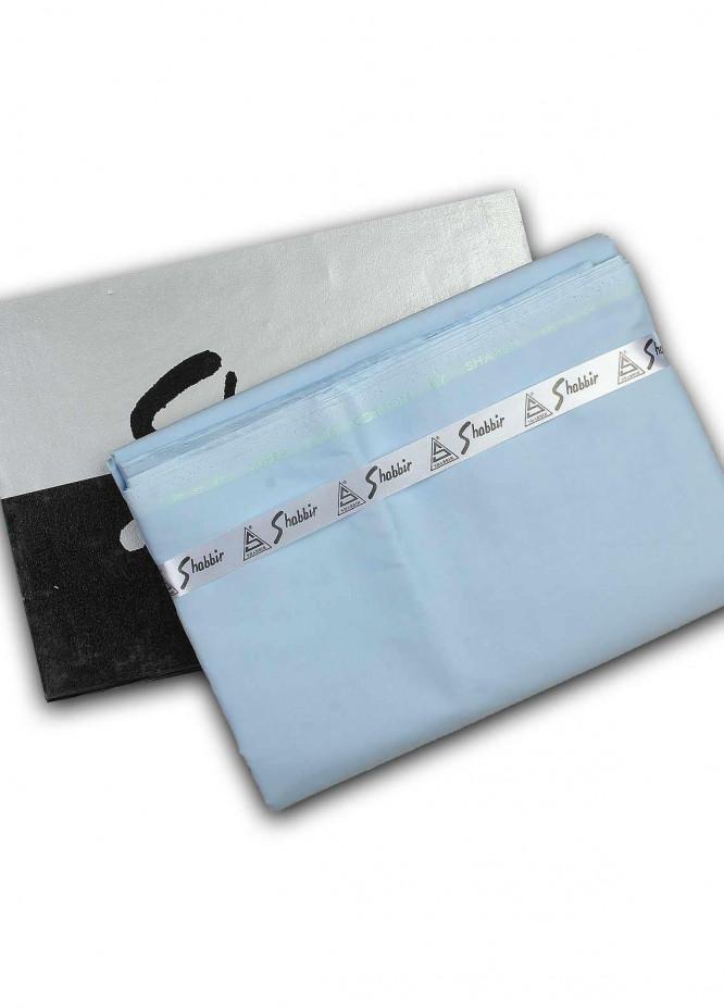 Shabbir Textile Plain Cotton Unstitched Fabric SCH-0051 Blue - Summer Collection