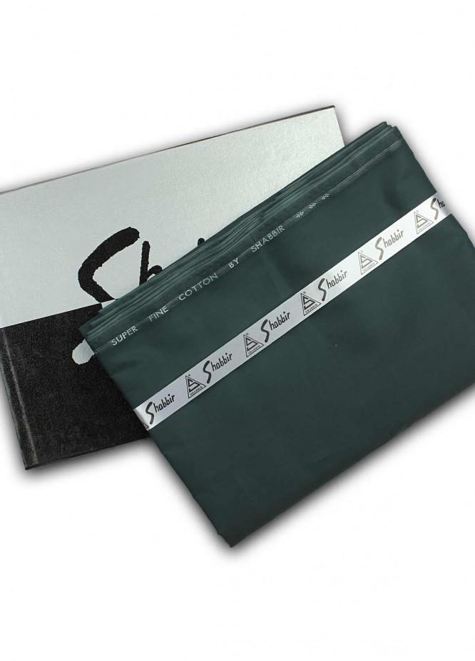 Shabbir Textile Plain Cotton Unstitched Fabric SCH-0051 Dark Green - Summer Collection