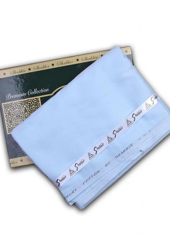 Shabbir Textile Plain Cotton Unstitched Fabric SCH-0054 Blue - Summer Collection