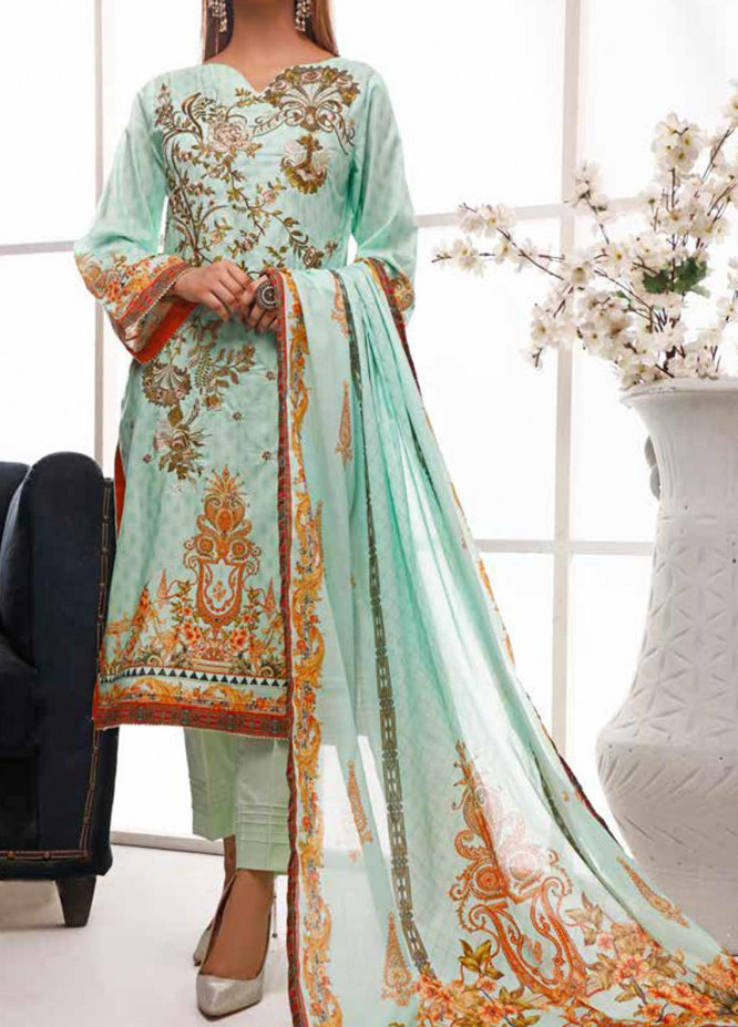 Shahkar by VS Textiles Embroidered Lawn Unstitched 3 Piece Suit VS20SH 20-05 - Spring / Summer Collection