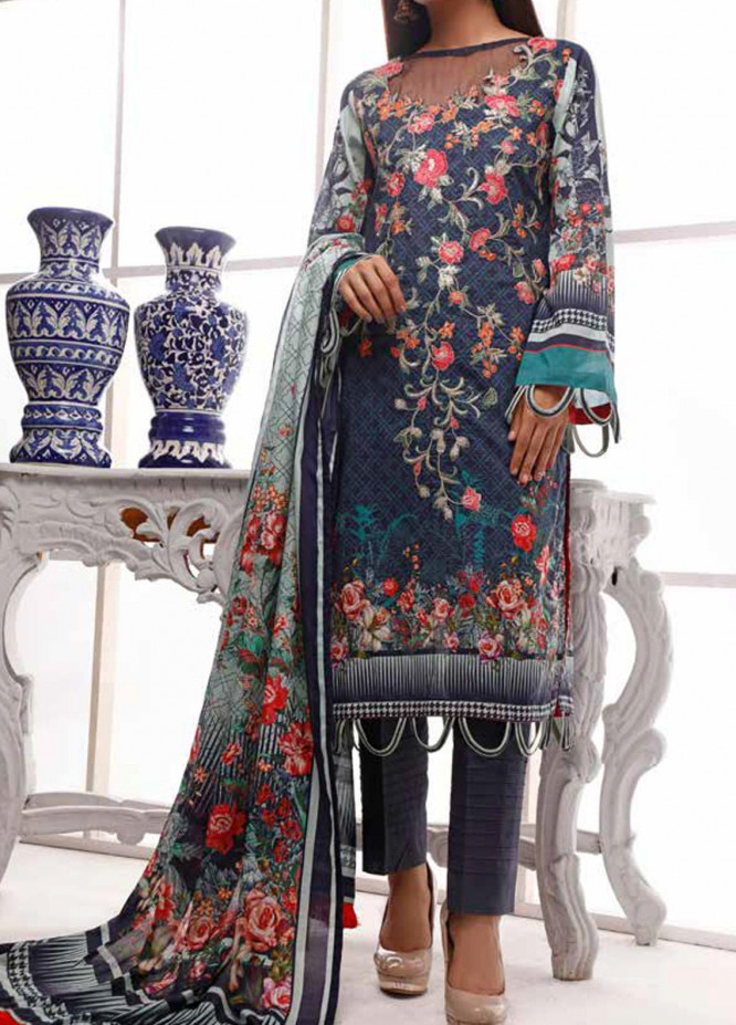 Shahkar by VS Textiles Embroidered Lawn Unstitched 3 Piece Suit VS20SH 20-09 - Spring / Summer Collection