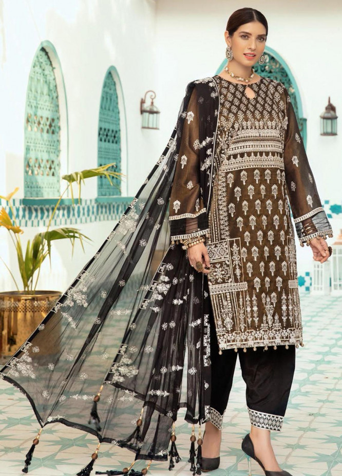 Shaista Embroidered Missouri Unstitched 3 Piece Suit SHT20LM 334 - Luxury Collection