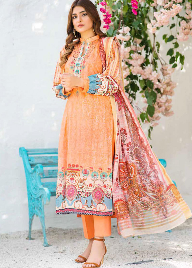 Shajar by Rashid Textiles Printed Lawn Unstitched 3 Piece Suit RD20S 1972 - Spring / Summer Collection