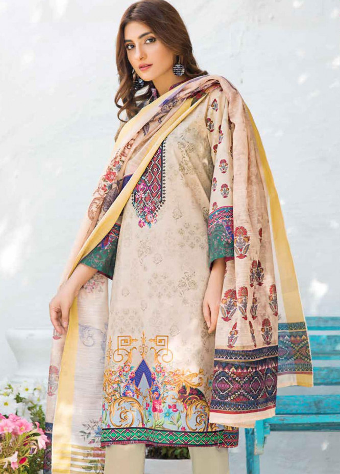 Shajar by Rashid Textiles Printed Lawn Unstitched 3 Piece Suit RD20S 1974 - Spring / Summer Collection