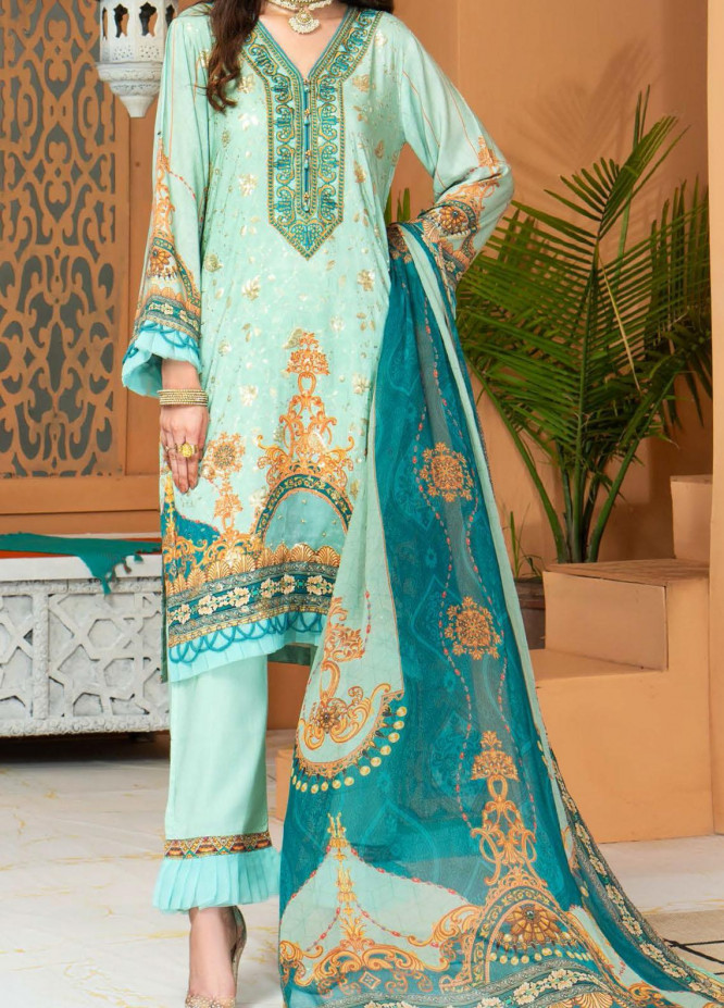 Shamira by Mohagni Embroidered Linen Unstitched 3 Piece Suit MO20SH 04 - Winter Collection