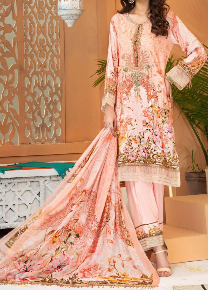Shamira by Mohagni Embroidered Linen Unstitched 3 Piece Suit MO20SH 05 - Winter Collection