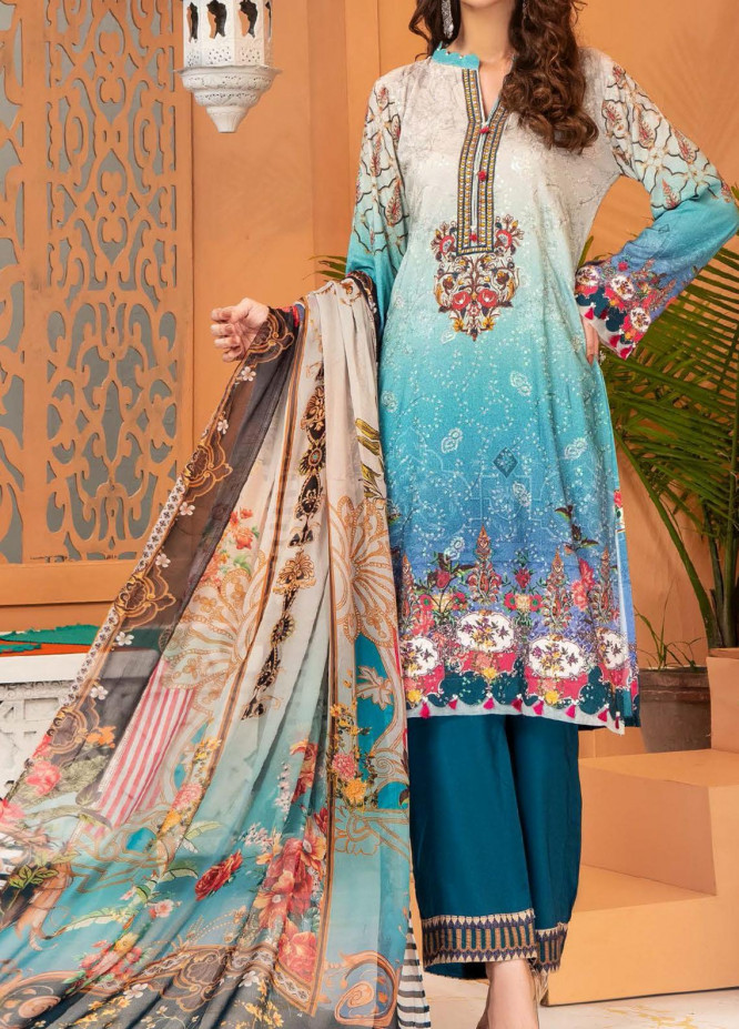 Shamira by Mohagni Embroidered Linen Unstitched 3 Piece Suit MO20SH 08 - Winter Collection