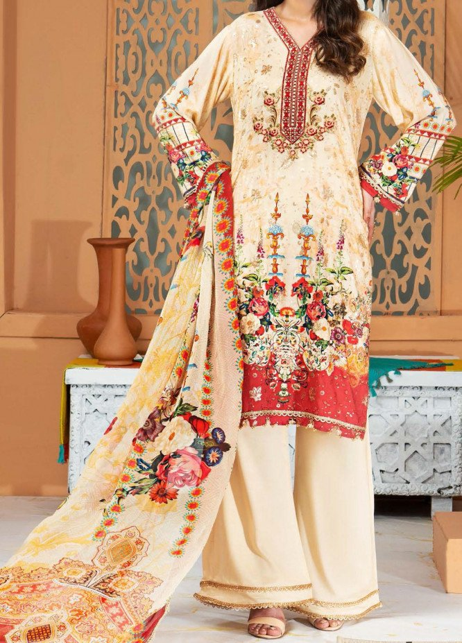 Shamira by Mohagni Embroidered Linen Unstitched 3 Piece Suit MO20SH 09 - Winter Collection