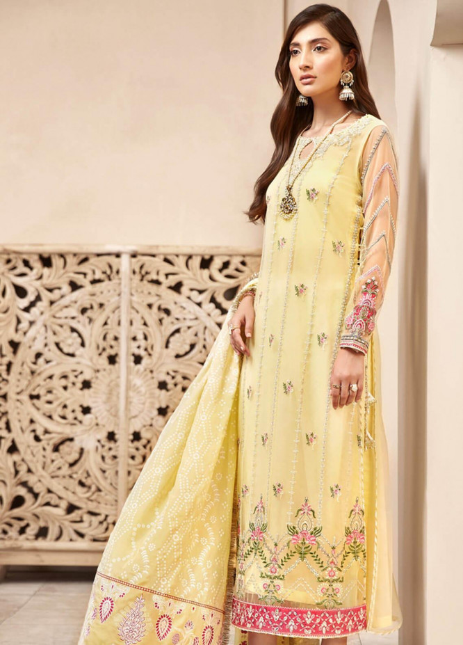 Shanaya by Saadia Asad Embroidered Net Unstitched 3 Piece Suit SA20SH D2-A - Festive Collection
