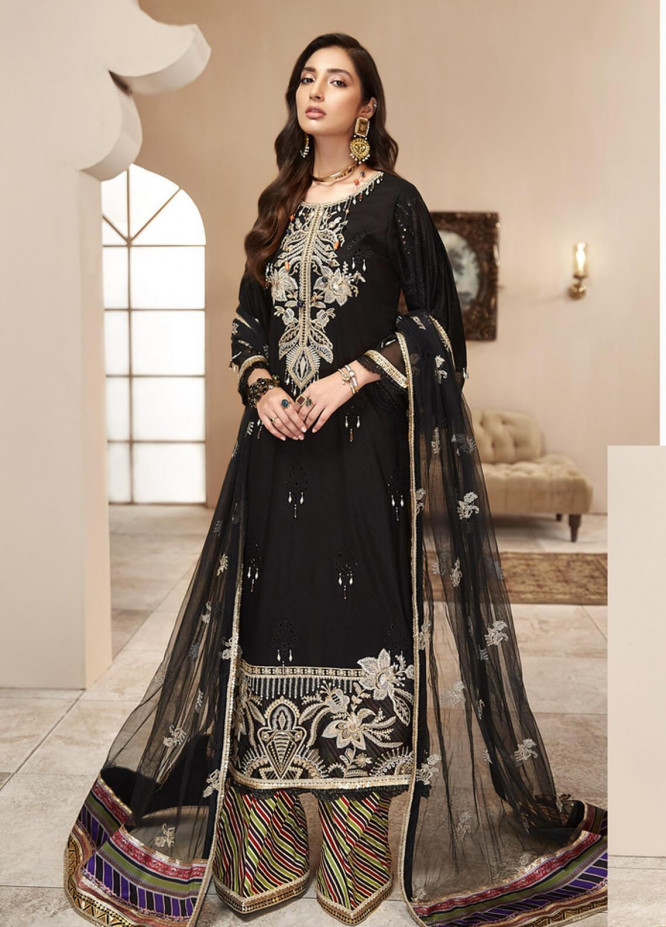 Shanaya by Saadia Asad Embroidered Lawn Unstitched 3 Piece Suit SA20SH D5-B - Festive Collection