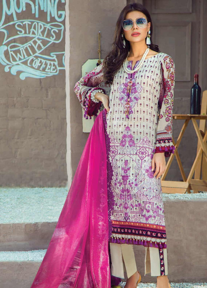 Shazia Kiyani by Elaf Embroidered Lawn Unstitched 3 Piece Suit SZK19F RUE CELIA - Festive Collection