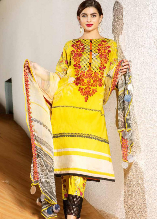 Sheen by Charizma Embroidered Lawn Unstitched 3 Piece Suit SHN20L 009 - Summer Collection