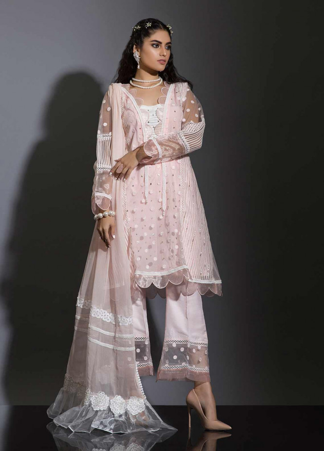 Sidra Mumtaz Embroidered Net Stitched 3 Piece Suit ZIBAA