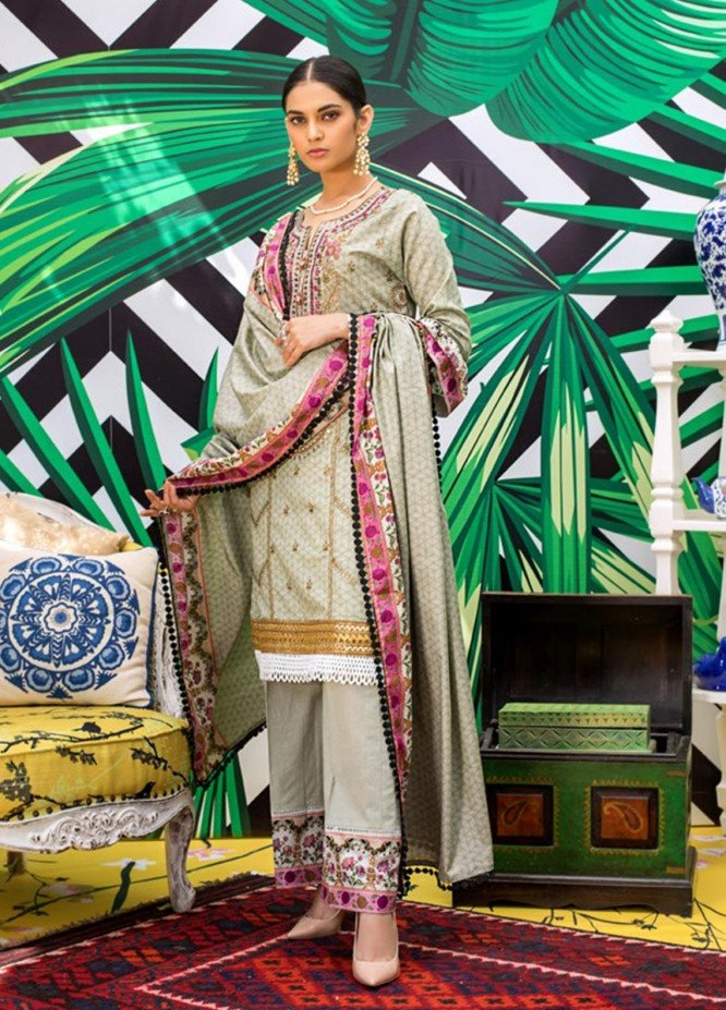 Signature Icon by ZS Textile Embroidered Lawn Unstitched 3 Piece Suit ZS20F D-05 - Spring / Summer Collection
