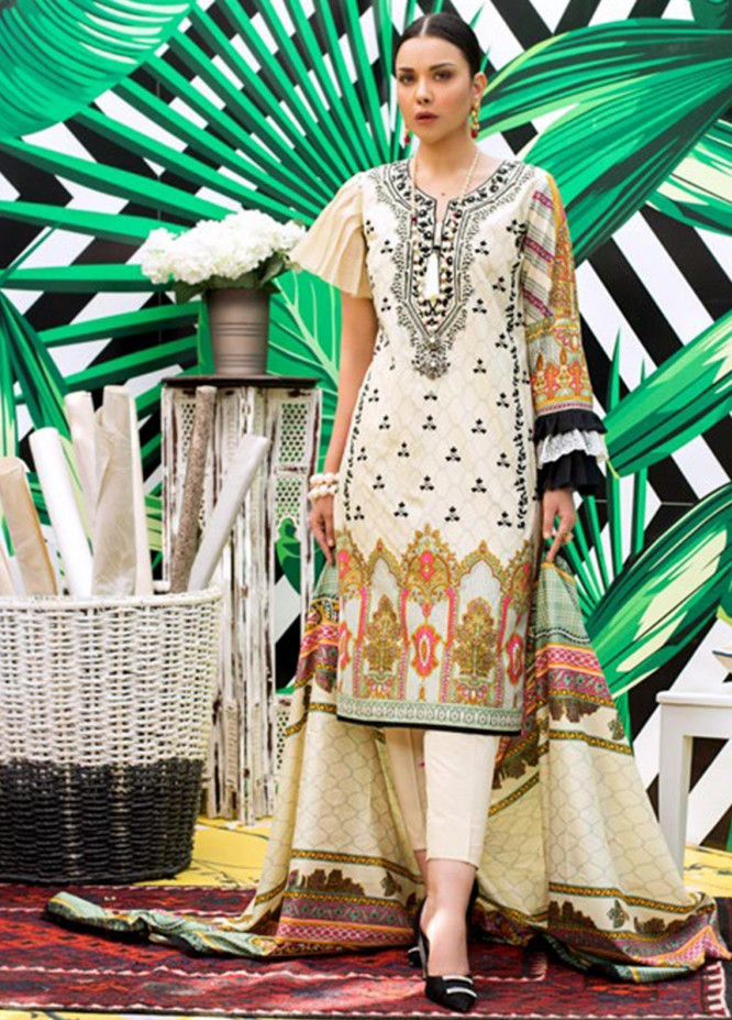 Signature Icon by ZS Textile Embroidered Lawn Unstitched 3 Piece Suit ZS20F D-12 - Spring / Summer Collection
