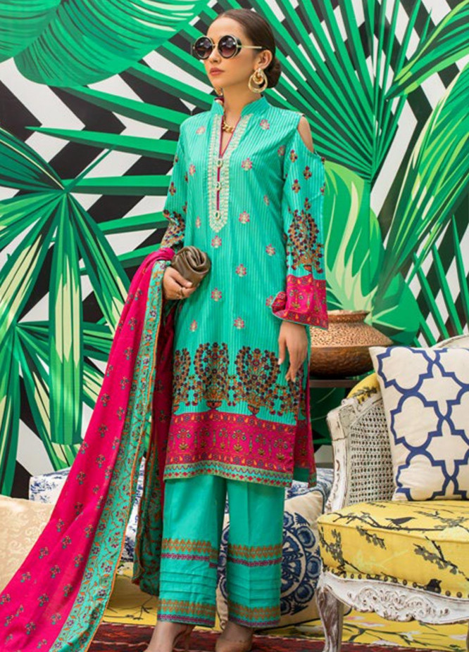 Signature Icon by ZS Textile Embroidered Lawn Unstitched 3 Piece Suit ZS20F D-16 - Spring / Summer Collection