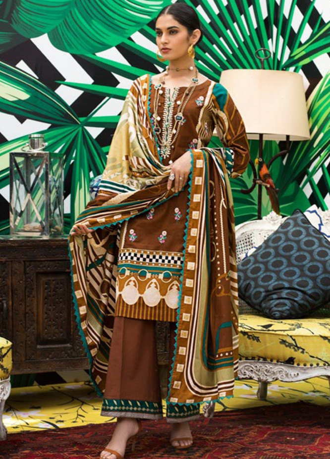 Signature Icon by ZS Textile Embroidered Lawn Unstitched 3 Piece Suit ZS20F D-17A - Spring / Summer Collection