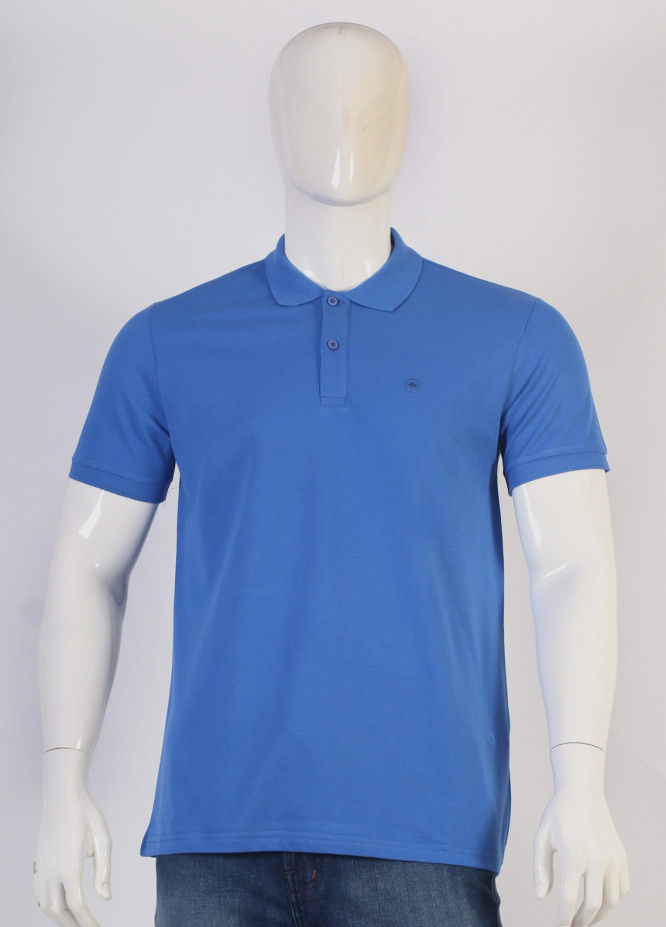 Sanaulla Exclusive Range Jersey Polo Men T-Shirts - Royal Blue TKM18S V-14