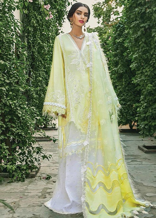 Vaada by Republic Womenswear Embroidered Cotton Unstitched 3 Piece Suit RW20V 04-A PARISA - Eid Collection
