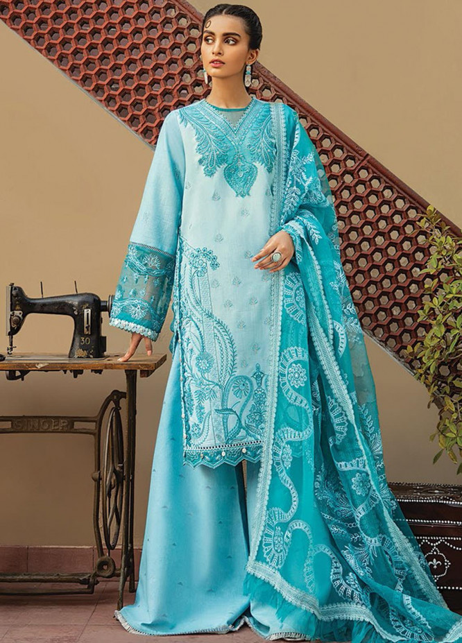 Vaada by Republic Womenswear Embroidered Lawn Unstitched 3 Piece Suit RW20V 08-A ESTERI - Eid Collection