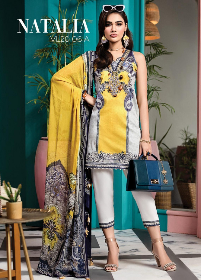 Viva by Anaya Embroidered Lawn Unstitched 3 Piece Suit V20AKC 06 A NATALIA - Summer Collection