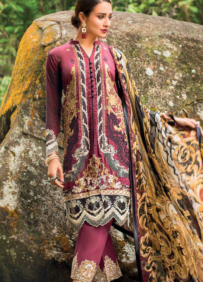 Zainab Chottani Embroidered Lawn Unstitched 3 Piece Suit ZC19L 1A VICTORIAN FRESCO - Spring / Summer Collection