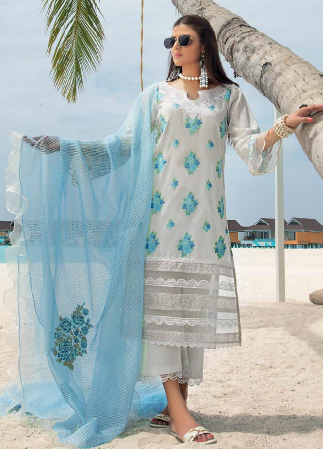 Zainab Chottani Embroidered Lawn Unstitched 3 Piece Suit ZC20LL 3A - Luxury Collection