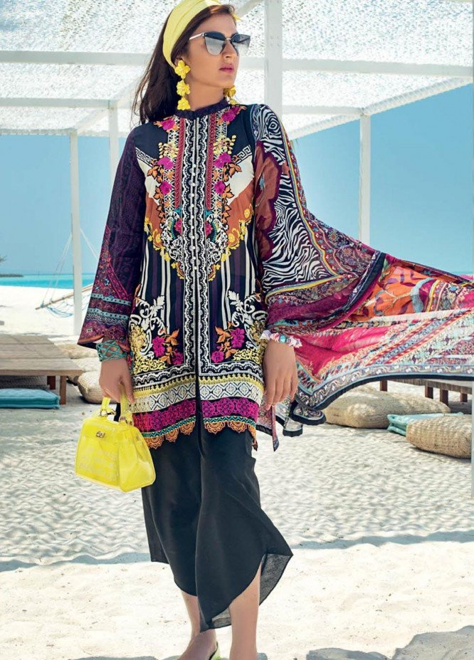 Zainab Chottani Embroidered Lawn Unstitched 3 Piece Suit ZC20LL 4A - Luxury Collection