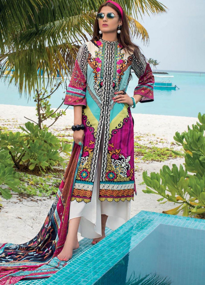 Zainab Chottani Embroidered Lawn Unstitched 3 Piece Suit ZC20LL 4B - Luxury Collection