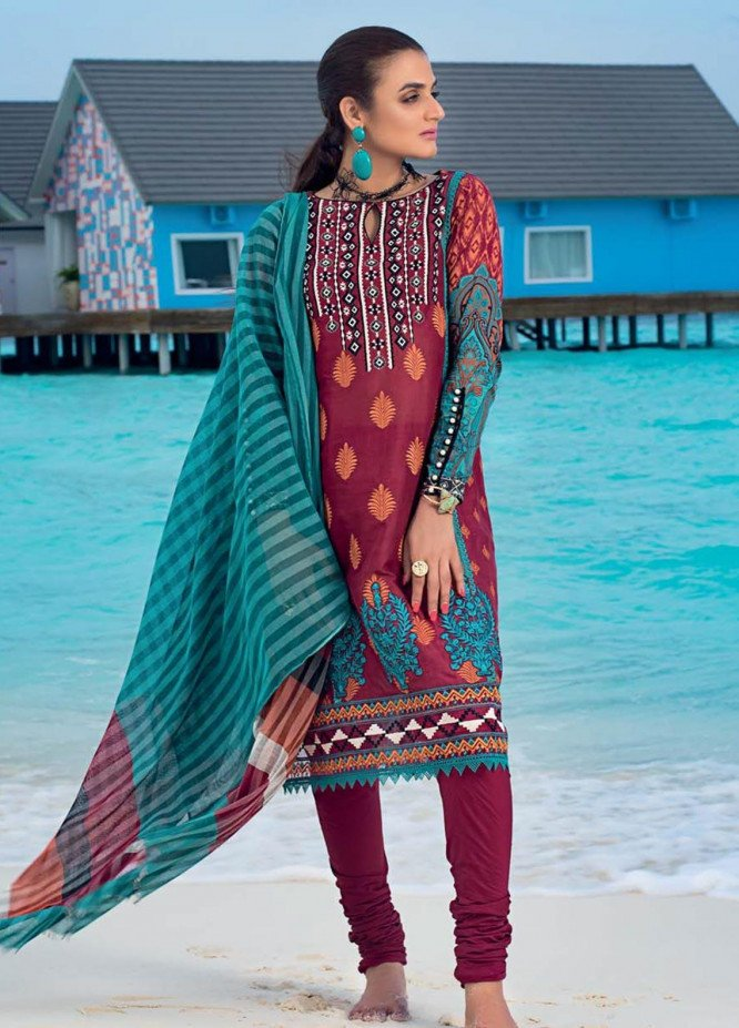Zainab Chottani Embroidered Lawn Unstitched 3 Piece Suit ZC20LL 6A - Luxury Collection