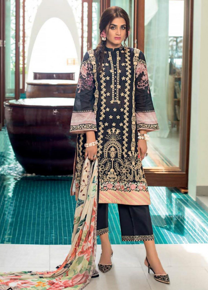 Zainab Chottani Embroidered Chikankari Unstitched 3 Piece Suit ZC20LL 7B - Luxury Collection