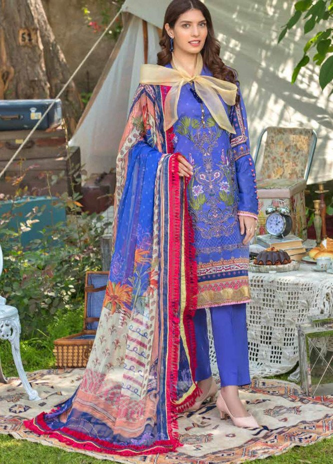 Zara Ali by Magns Textiles Embroidered Lawn Unstitched 3 Piece Suit ZRA20F 6B - Summer Collection
