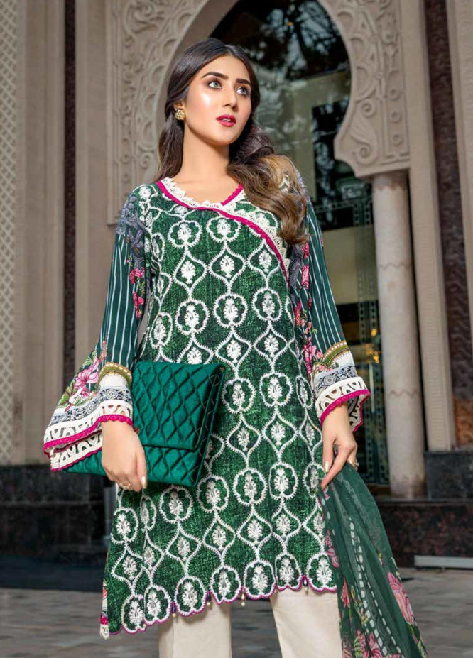 Zara Ali by Magns Textiles Embroidered Viscose Unstitched 3 Piece Suit ZRA19VK 04 A - Winter Collection