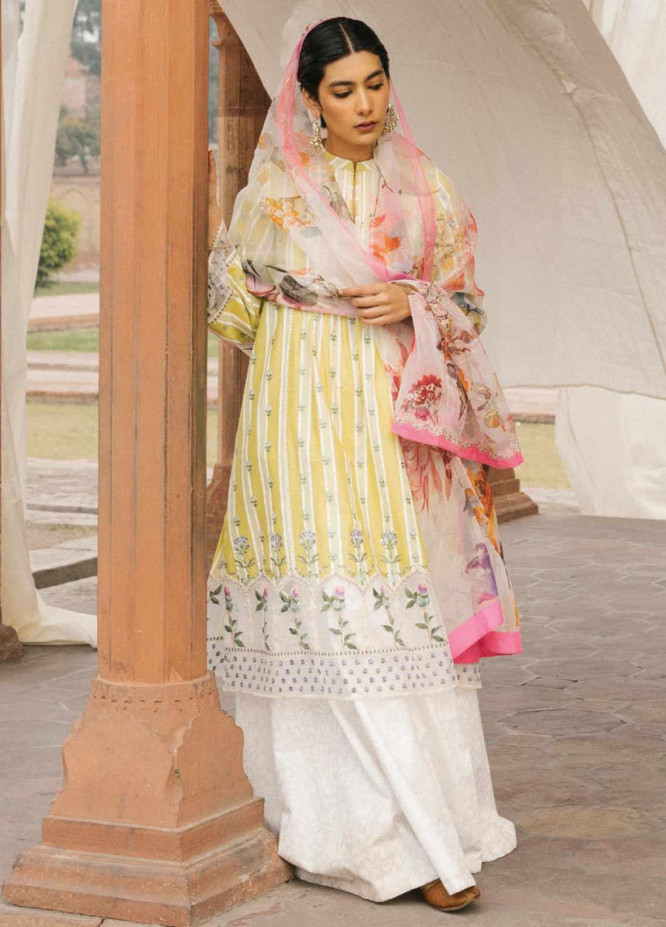 Zara Shahjahan Embroidered Lawn Unstitched 3 Piece Suit ZSJ20GL JEHANARA-A - Spring / Summer Collection