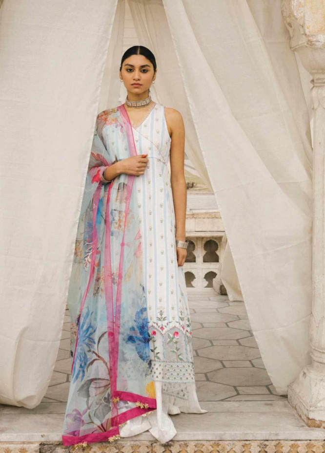 Zara Shahjahan Embroidered Lawn Unstitched 3 Piece Suit ZSJ20GL JEHANARA-B - Spring / Summer Collection