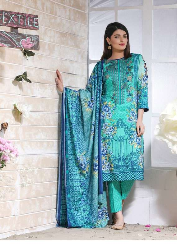1958ea6970 ZS Textile Printed Lawn Unstitched 3 Piece Suit RZS18L 20B - Spring /  Summer Collection