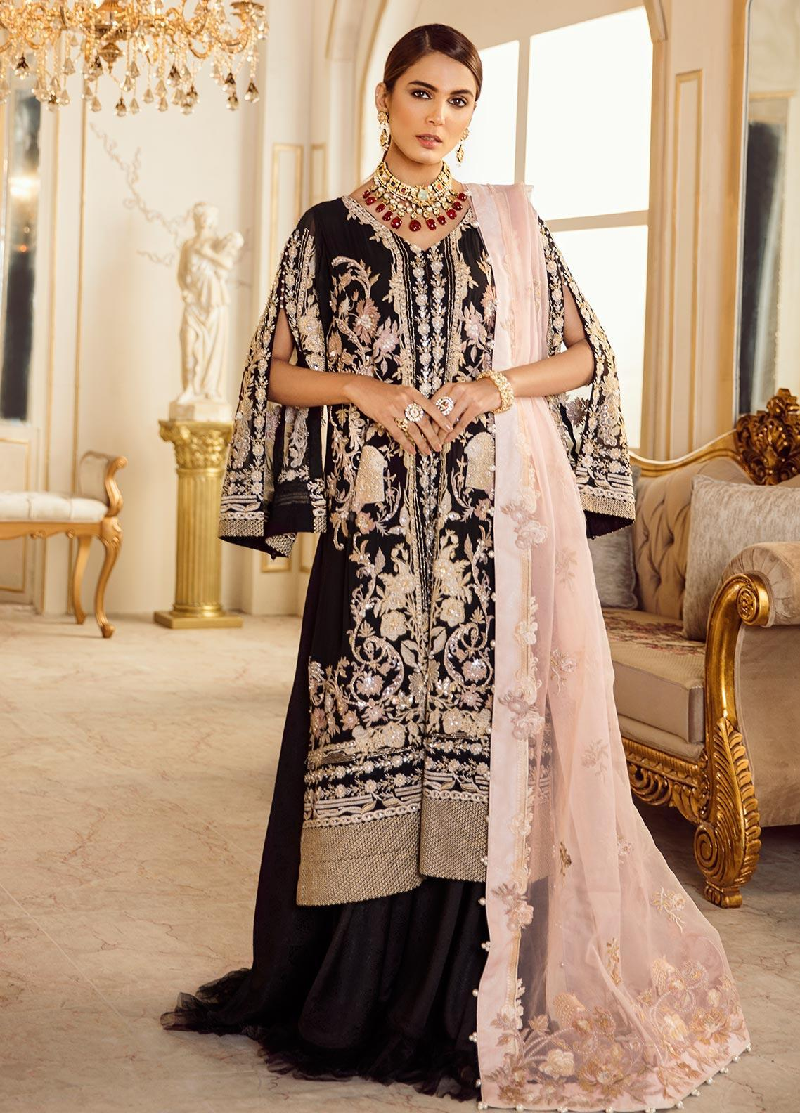 Rouche Embroidered Chiffon Unstitched 3 Piece Suit RCH20DX 6 - Luxury Collection